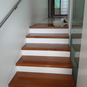 wooden stair treads and risers
